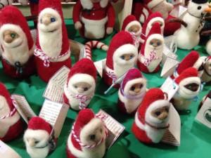 Felted Santas at the Holiday Market