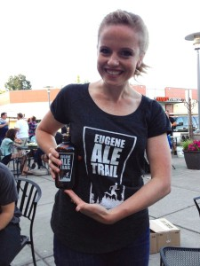 Eugene Ale Trail prize and shirt