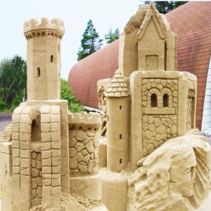 Sand Sculpting Demonstration at Sand Master Park