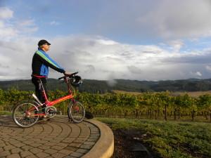 Sweet Cheeks Gazing Cyclist by Molly Blancett