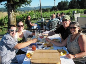 Wine tasting on the Territorial Wine Trail at Sweet Cheeks Winery