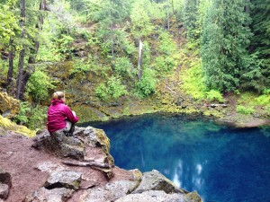 Blue Pool (aka cache #30 on the McKenzie River Edition)