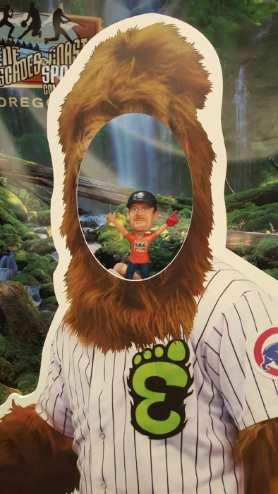 Champ with Sasquatch at Cubs Con