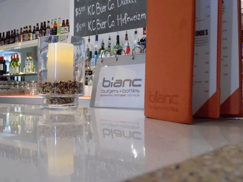 Blanc Burgers + Bottles in Leawood, Kansas, sits on the state line serving up specialty burger recipes to Kansas City area patrons.