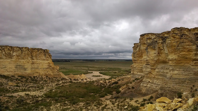 Arikaree Breaks. One of many dramatic rock formations in Kansas