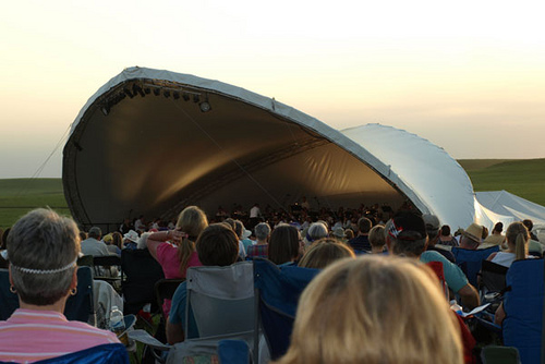 Flint Hills Symphony stage and crowd