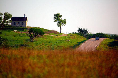 Road through flint hills