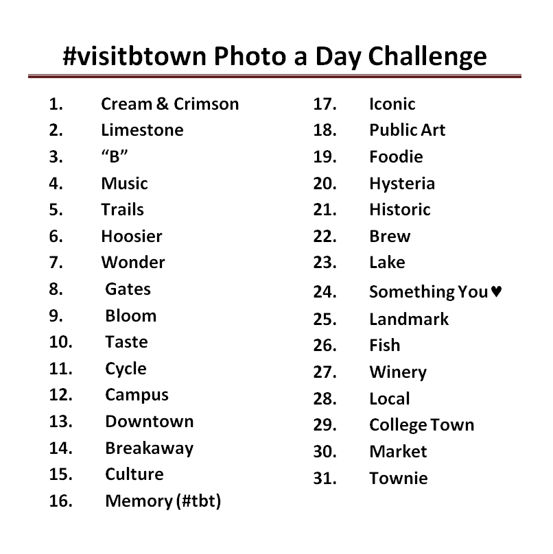 May 2013 #visitbtown Photo a Day Challenge