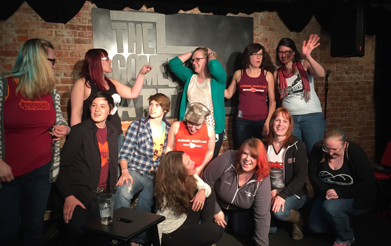 Bleeding Heartland Roller Derby at the Comedy Attic