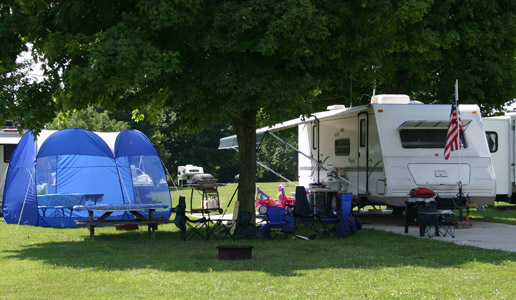 RV Camping in Bloomington, Indiana