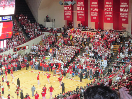 IU Basketball warm up