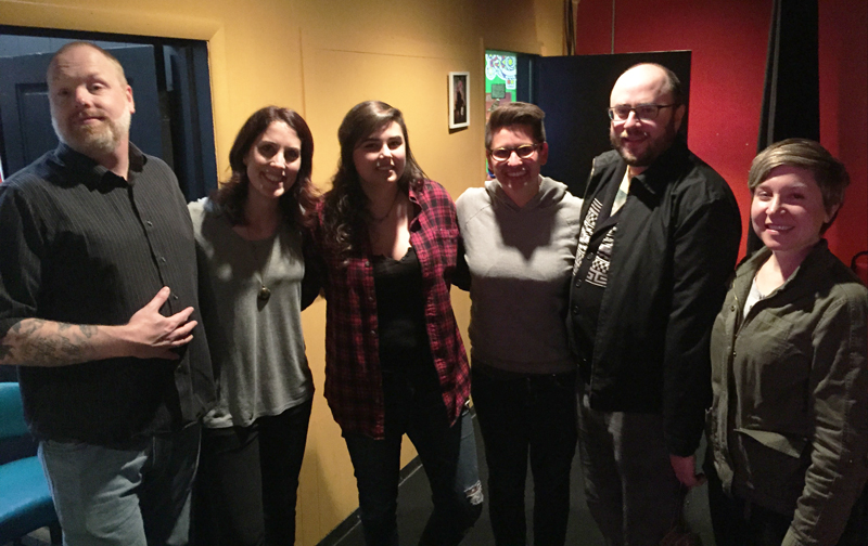 Erin Foley and fans at the Comedy Attic