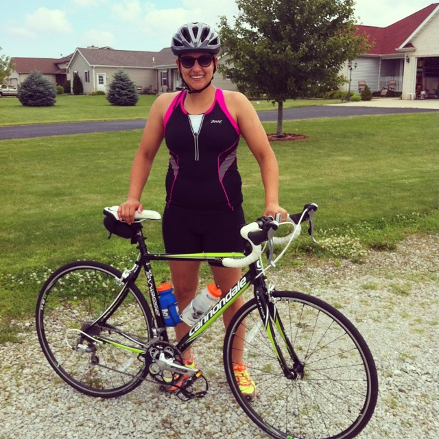 Sarah Perfetti Bloomington Biking
