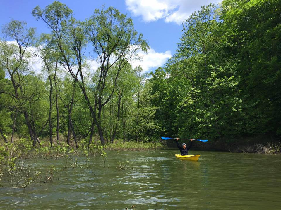 Kayaking on lake monroe
