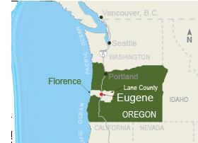 Eugene Maps | Walking Tour Map | Eugene, Cascades & Oregon Coast on