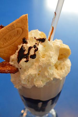 Milkshakes at Monty's Blue Plate Diner