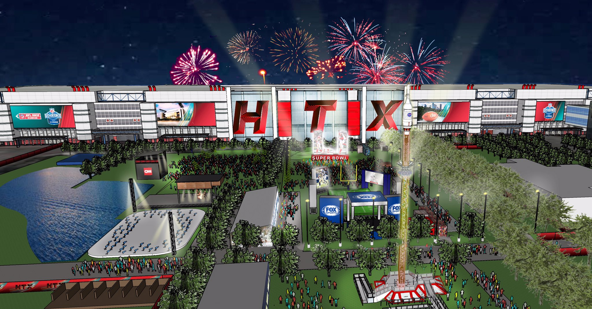 super bowl live rendering