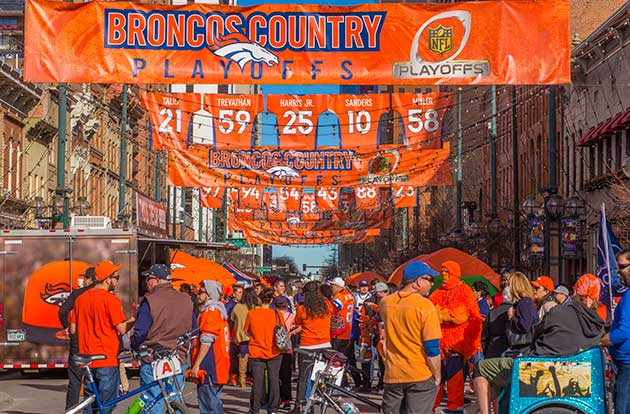 Fans rally for Denver Broncos