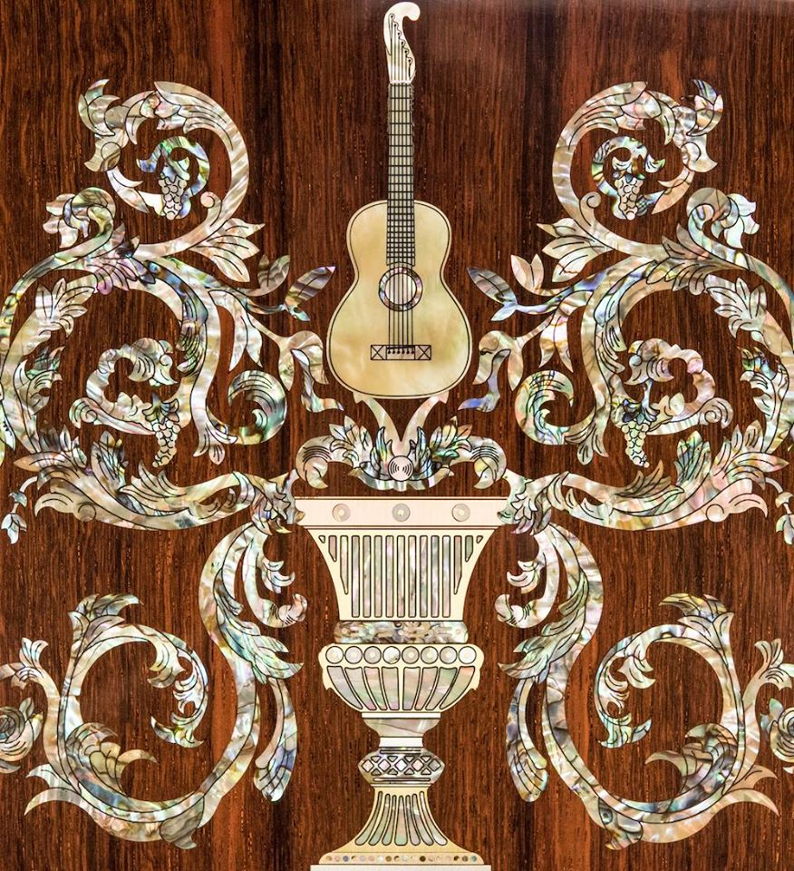 Dragons and Vines: Inlaid Guitar Masterpieces