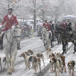 Middleburg Christmas Parade Snow