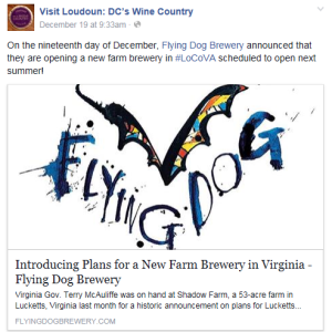 Flying Dog Facebook Post