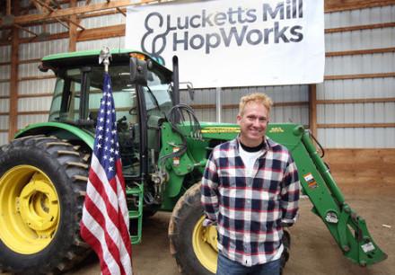 Onsite at Loudoun's new hops farm. © Times-Mirror/Rick Wasser