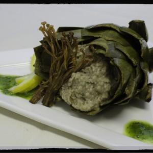 artichoke with hummus-Grandale