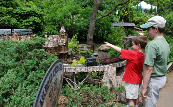Morris Arboretum's Garden Railway opens for the season on May 28.