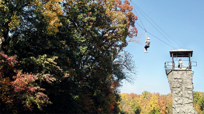 The Canopy Tours at Spring Mountain are an exciting way to see the colors of fall.