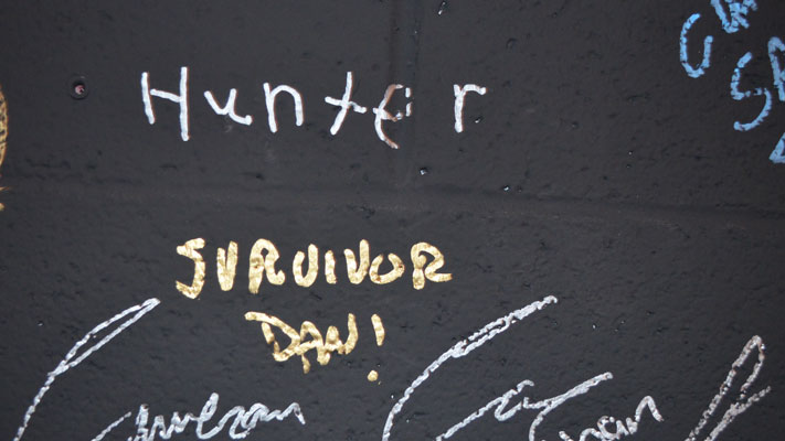 I added my name to Area 2200's Survivor Wall. Will you?