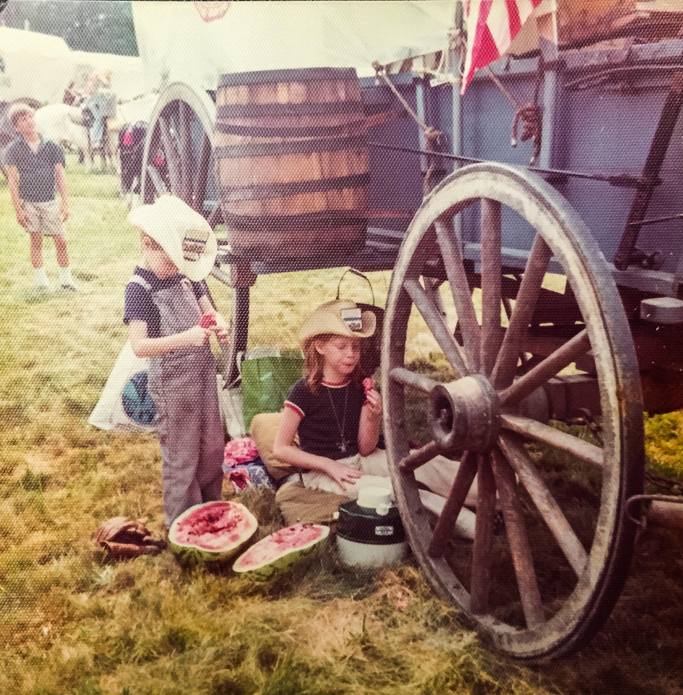 The Cutest Bicentennial Pioneers, Holly and her Brother C.R. | July 3, 1976