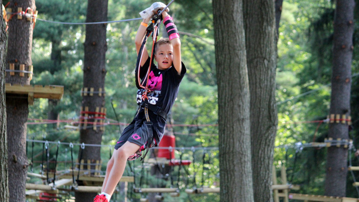 Elmwood Park Zoo's Treetop Adventures takes you high above the animals.