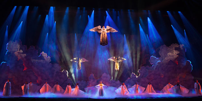 The angels descend on the stage of Sight & Sound.