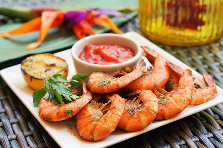 Summer Shandy Steamed Shrimp are on the menu at the Valley Beach Poolside Club