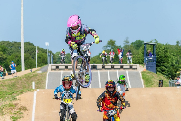 Action at Trilogy Park BMX in Pottstown