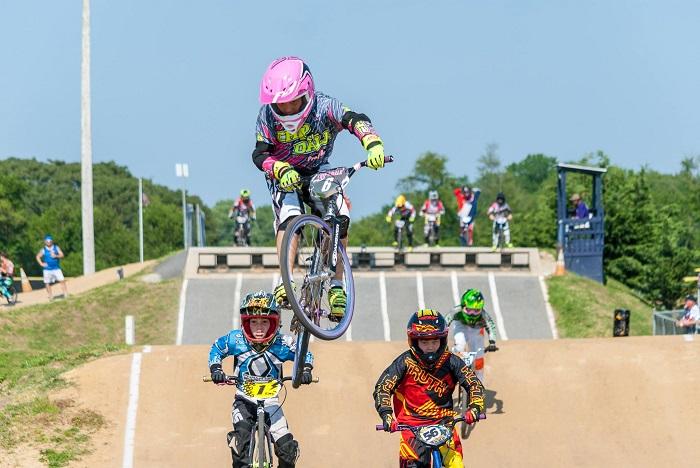 Action at Trilogy Park BMX in Pottstown