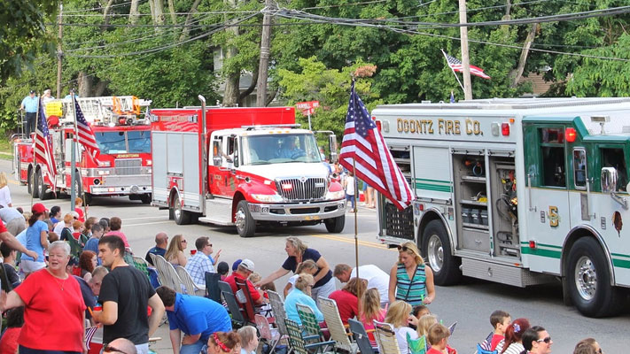 The parade always celebrates Montgomery County's first responders.