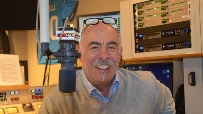 John DeBella in the WMGK studio.