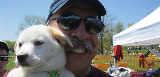 Join John DeBella and his four-legged friends at Green Lane Park this Sunday.