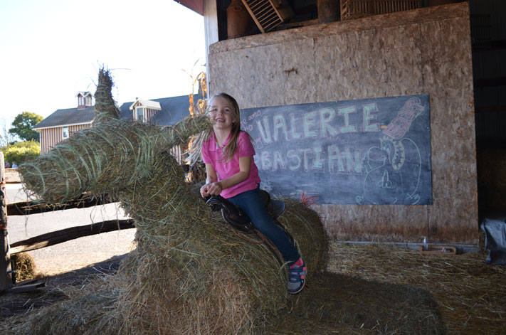 Northern Star Farm also offers real horse rides for kids during Fall Fest Weekends.