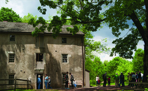 The 160-year-old grist mill at Morris Arboretum springs to life this Sunday.