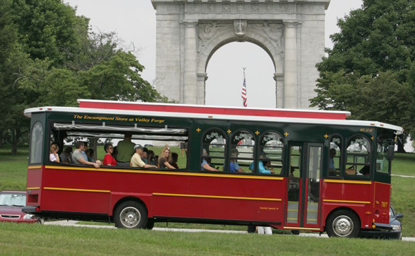 Trolley Tours of Valley Forge Park are held at 10 a.m, 12 p.m., 2 p.m., and 4 p.m. this weekend