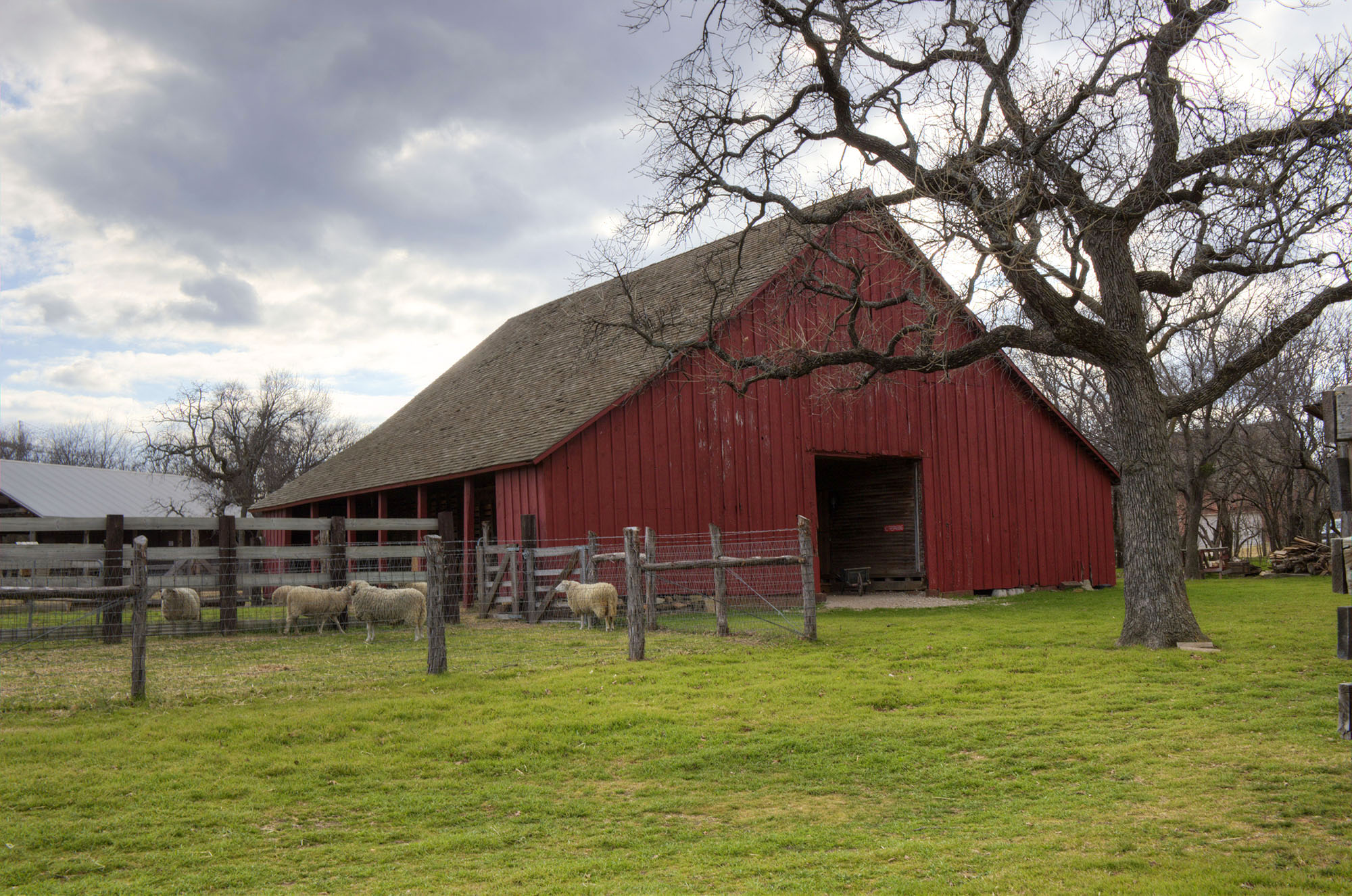 The Red Barn Overlooks the Nash Farm Property
