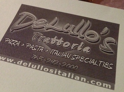 DeLullo's Menu