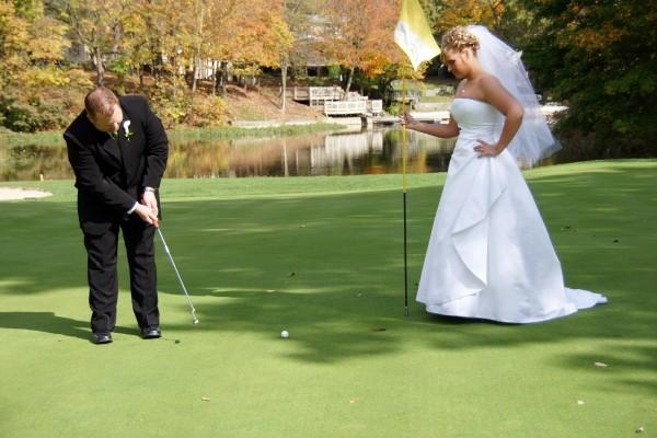 Golf Wedding shot