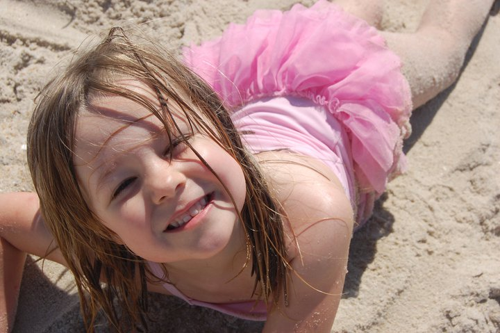 Beach Sand fun- blogger Shanna