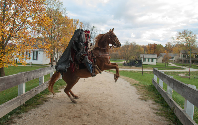 Headless Horseman near bridge