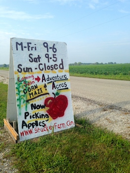 Stuckey Farm sign