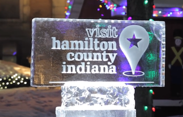 Visit Hamilton Co Ice Sculpture- Noblesville Video