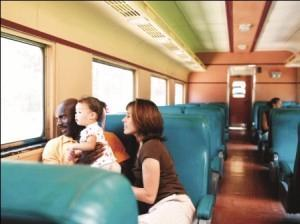 family on train compressed
